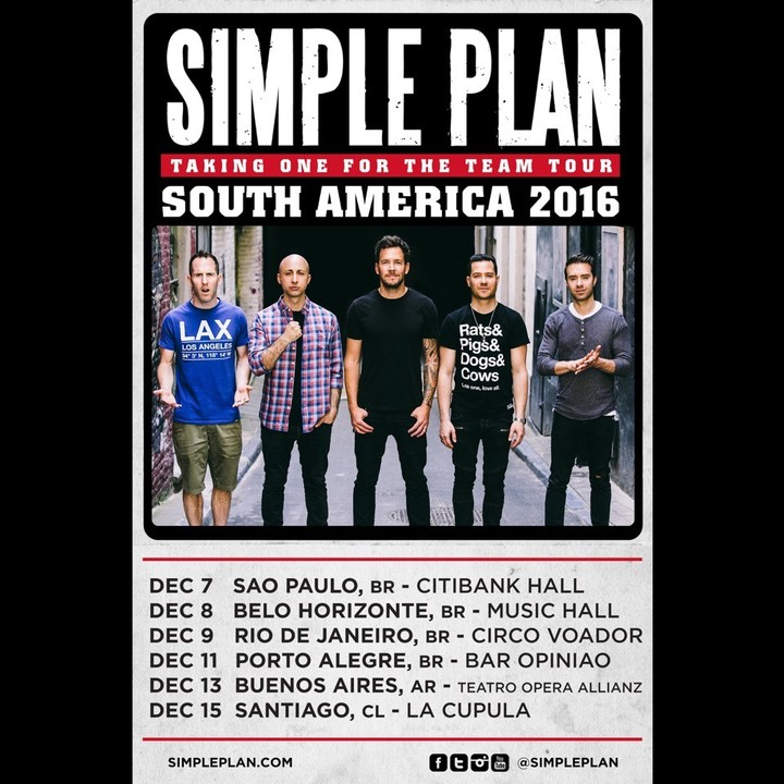 Simple Plan @ Music Hall - Belo Horizonte, Brazil