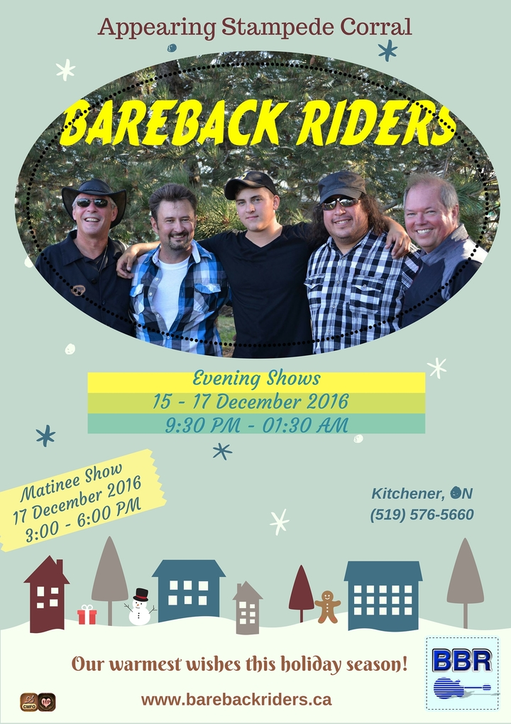 The Bareback Riders @ Stampede Corral  - Kitchener, Canada