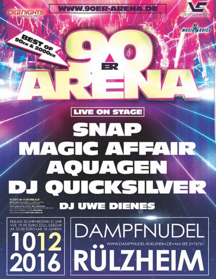 Aquagen @ 90er Arena- Dampfnudel - Rulzheim, Germany