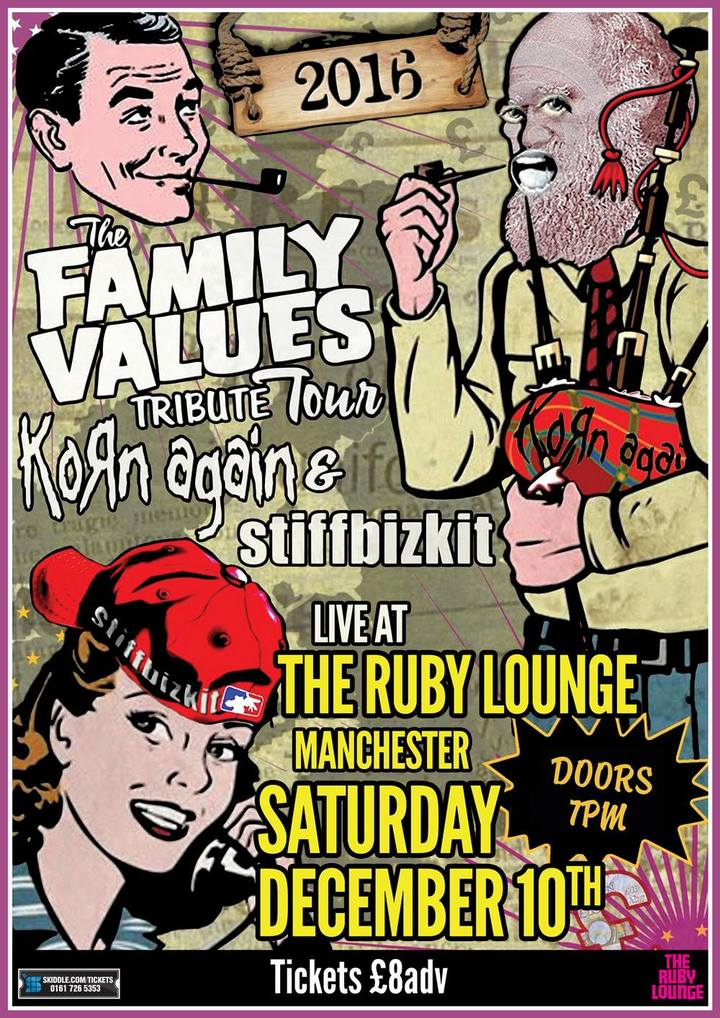 The Family Values Tribute Show 2016 @ The Ruby Lounge - Manchester, United Kingdom