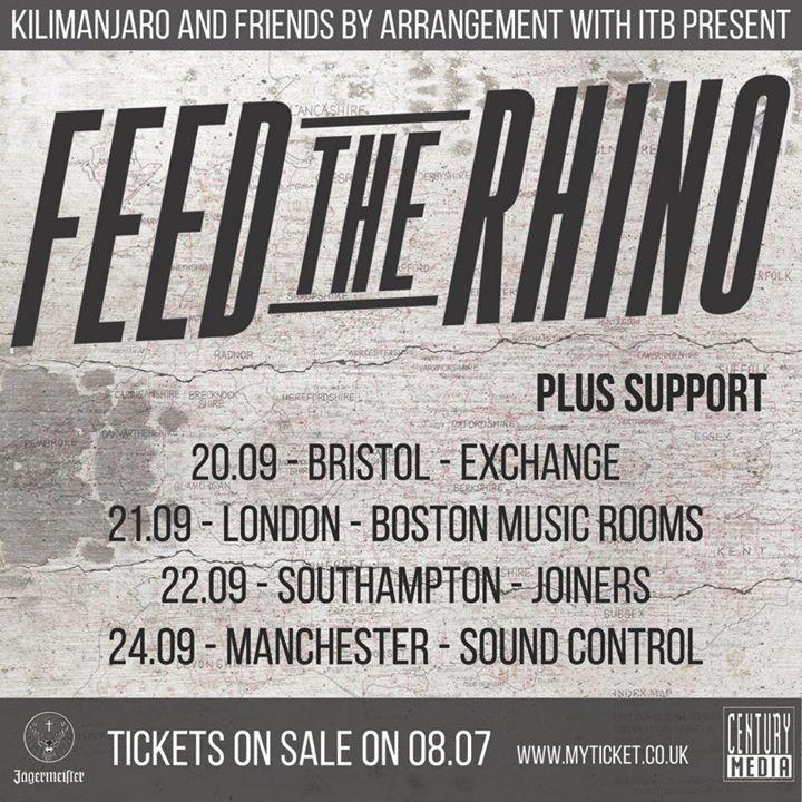 Feed The Rhino Tour Dates