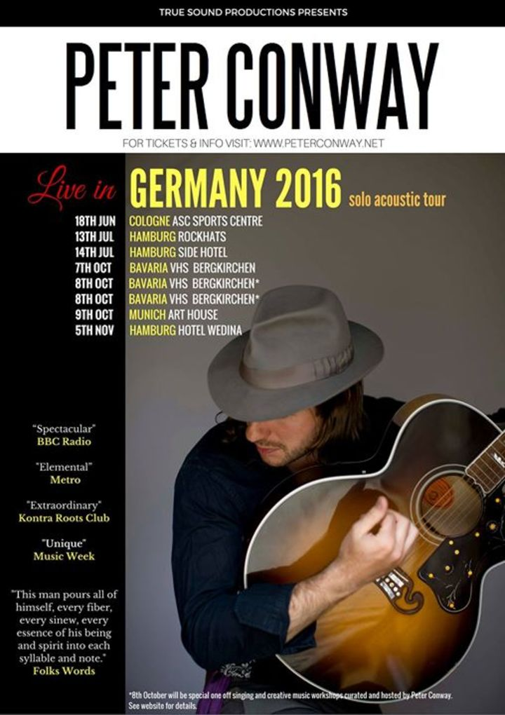 Peter Conway Tour Dates