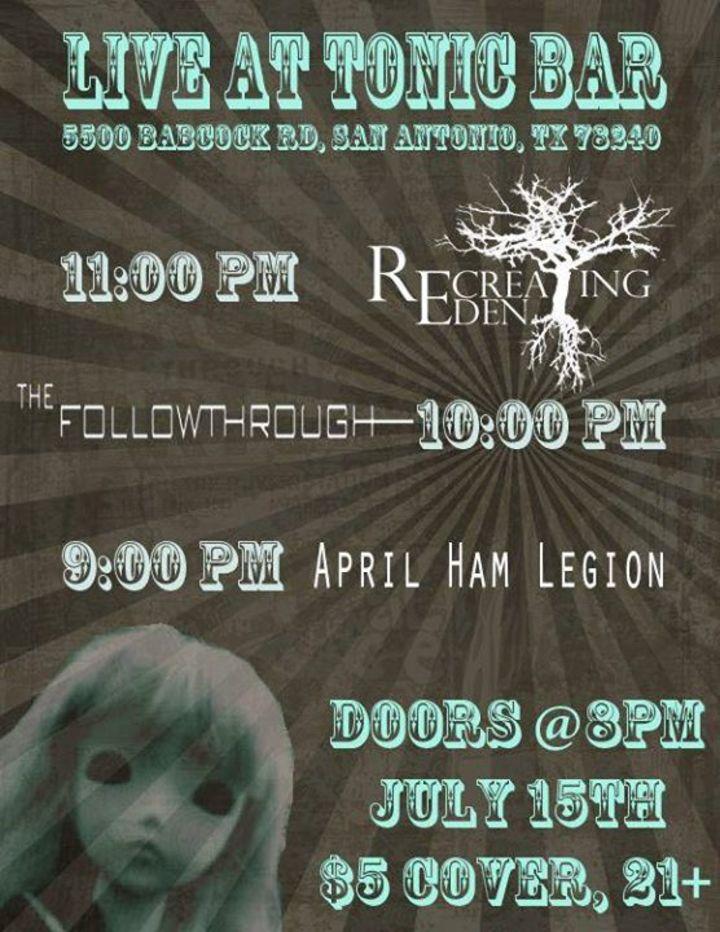 April Ham Legion Tour Dates