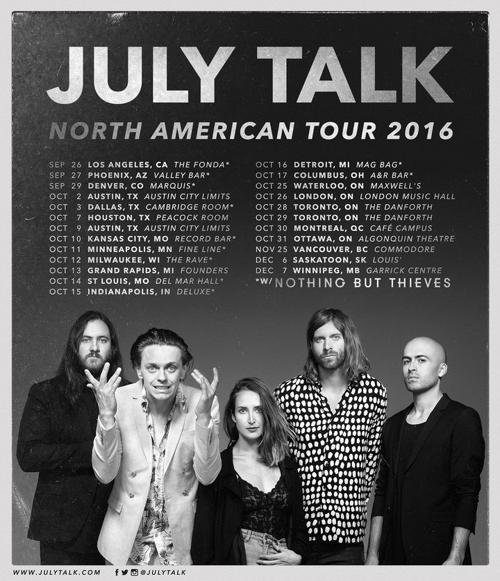 JULY TALK @ Louis' - Saskatoon, Canada