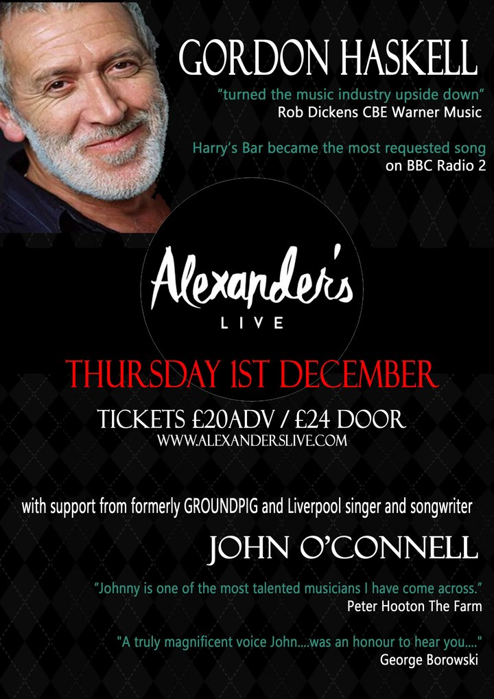 Gordon Haskell @ Alexanders - Chester, United Kingdom