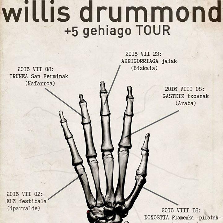Willis Drummond Tour Dates