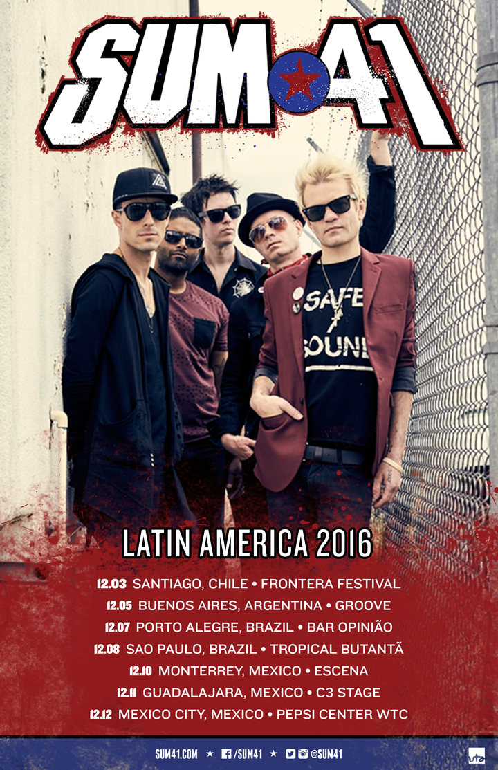 Sum 41 @ Pepsi Center WTC - Mexico City, Mexico