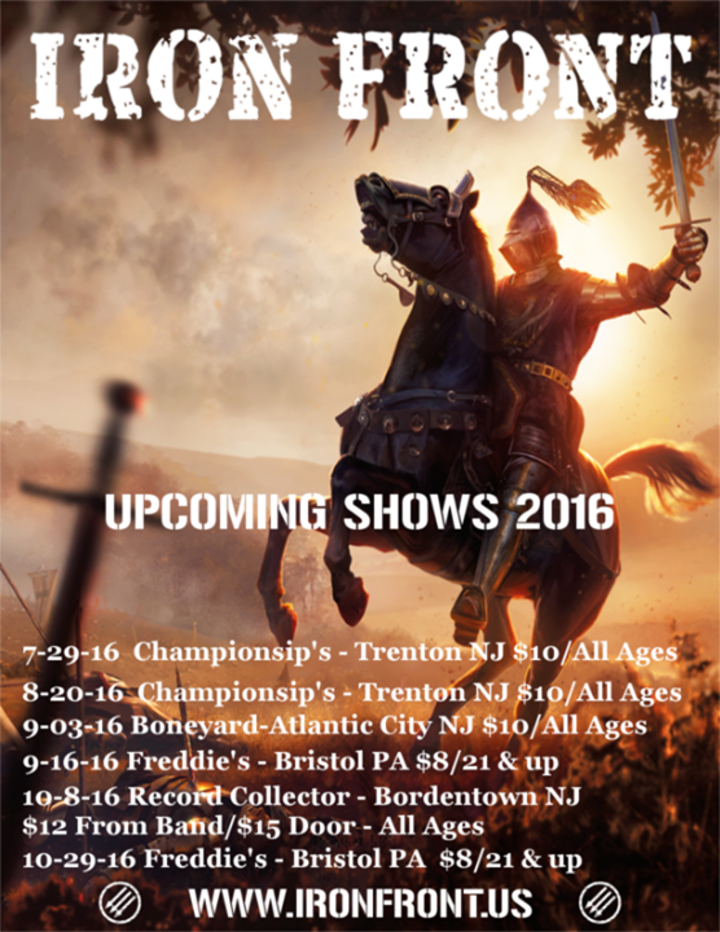 Iron Front Tour Dates