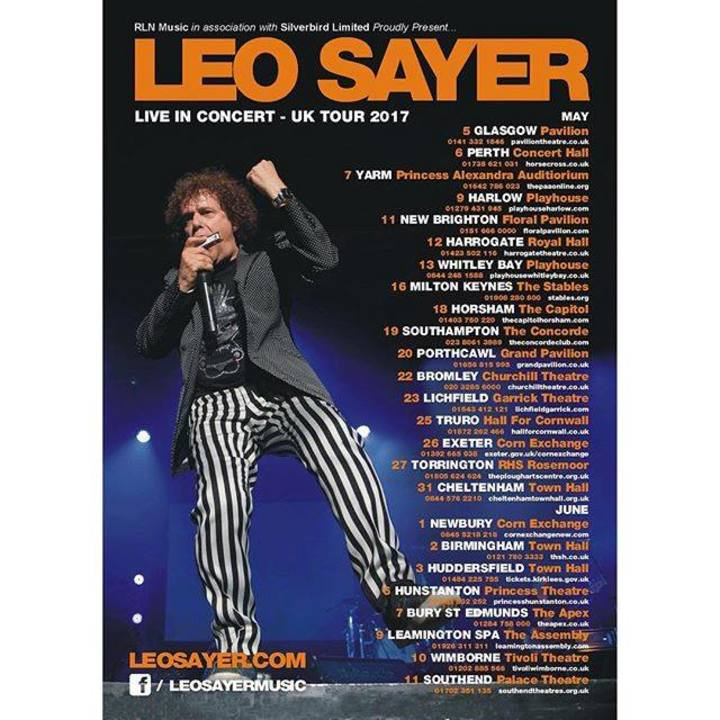 Leo Sayer @ TOWN HALL - Birmingham, United Kingdom