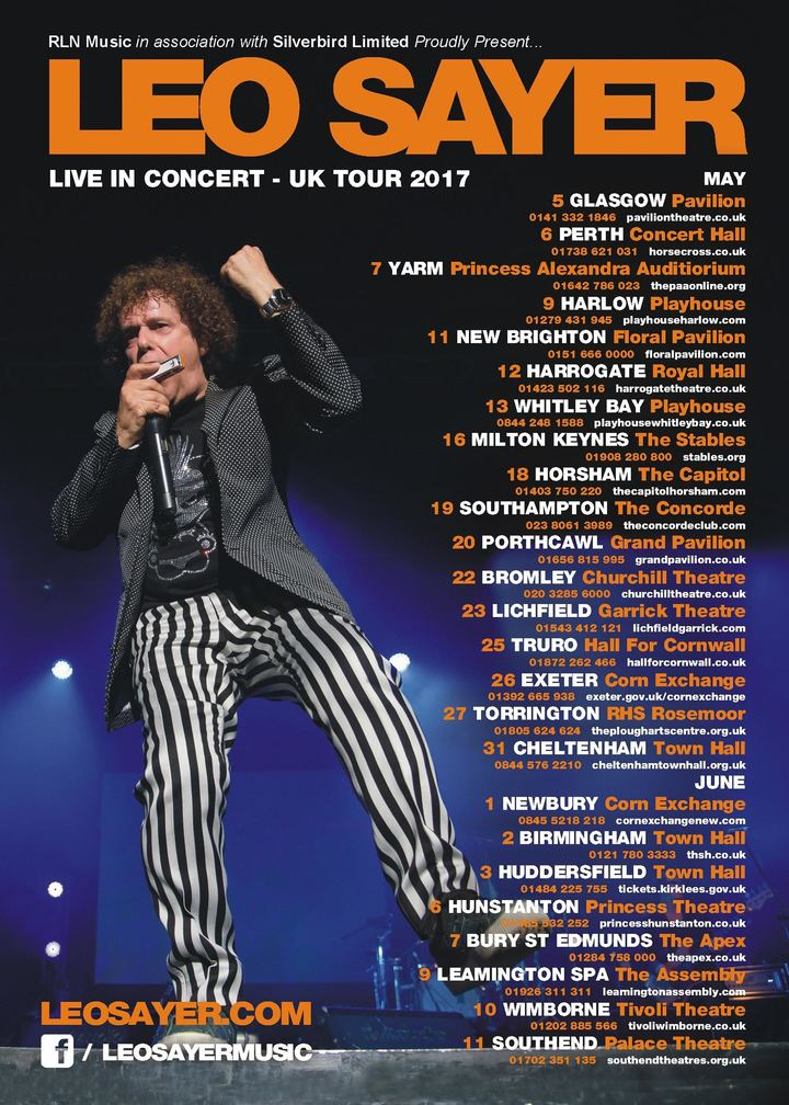 Leo Sayer @ Tivoli Theatre - Wimborne Minster, United Kingdom