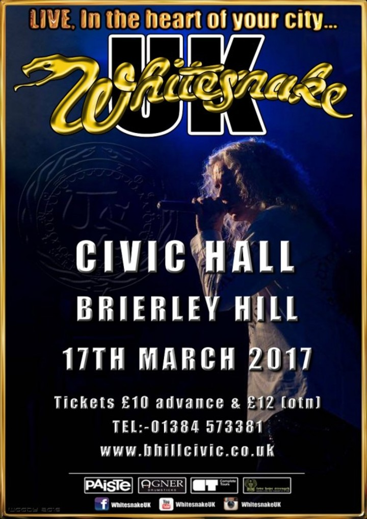 Whitesnake UK (the tribute) @ Brierley Hill Civic Hall - Brierley Hill, United Kingdom