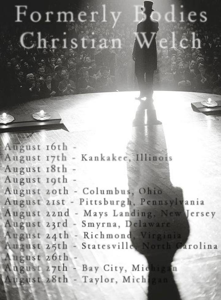 Christian Welch Tour Dates