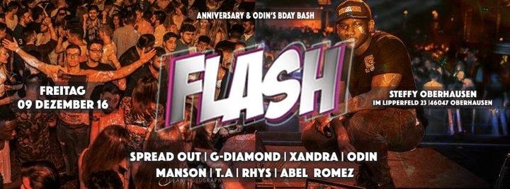 DJ Odin @ Flash Anniversary + Odin's BDAY @ Turbinenhalle - Oberhausen, Germany