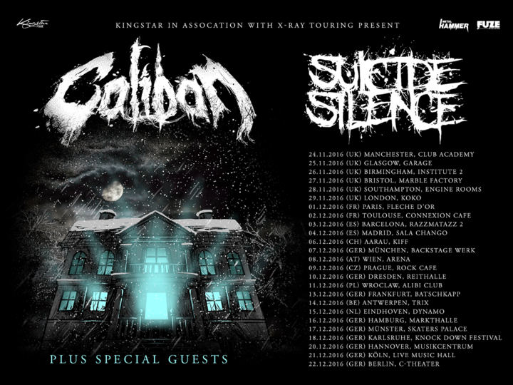 Caliban @ Arena - Vienna, Austria
