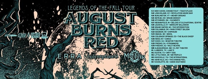 August Burns Red @ The Crofoot Ballroom - Pontiac, MI
