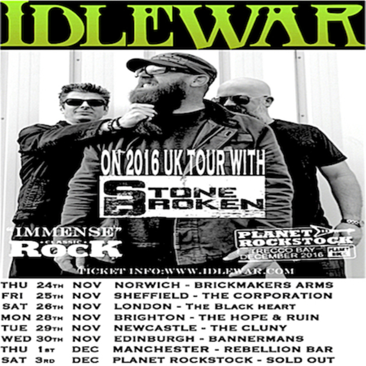 Idlewar @ The Cluny - Newcastle Upon Tyne, United Kingdom