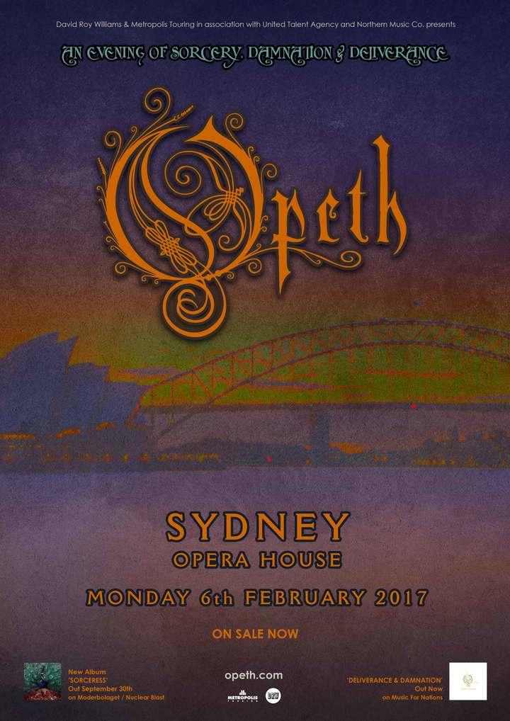 Opeth @ Sydney Opera House - Sydney, Australia