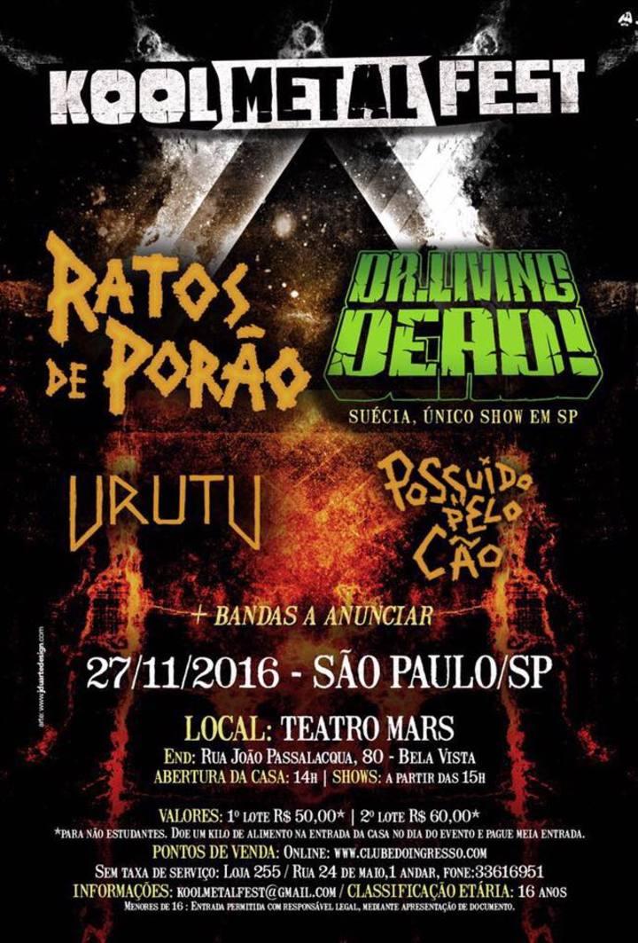 Dr Living Dead @ Teatro Opus - Sao Paulo, Brazil