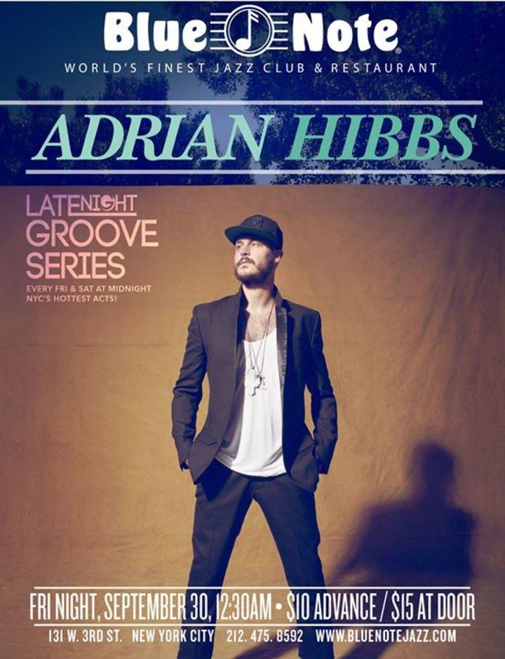 Adrian Hibbs Tour Dates