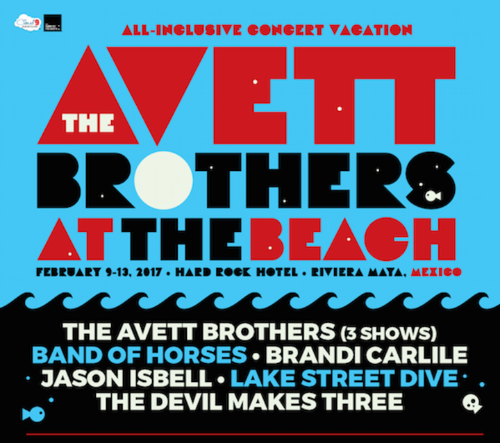 The Avett Brothers @ Hard Rock Hotel Riviera Maya - Maya, Mexico