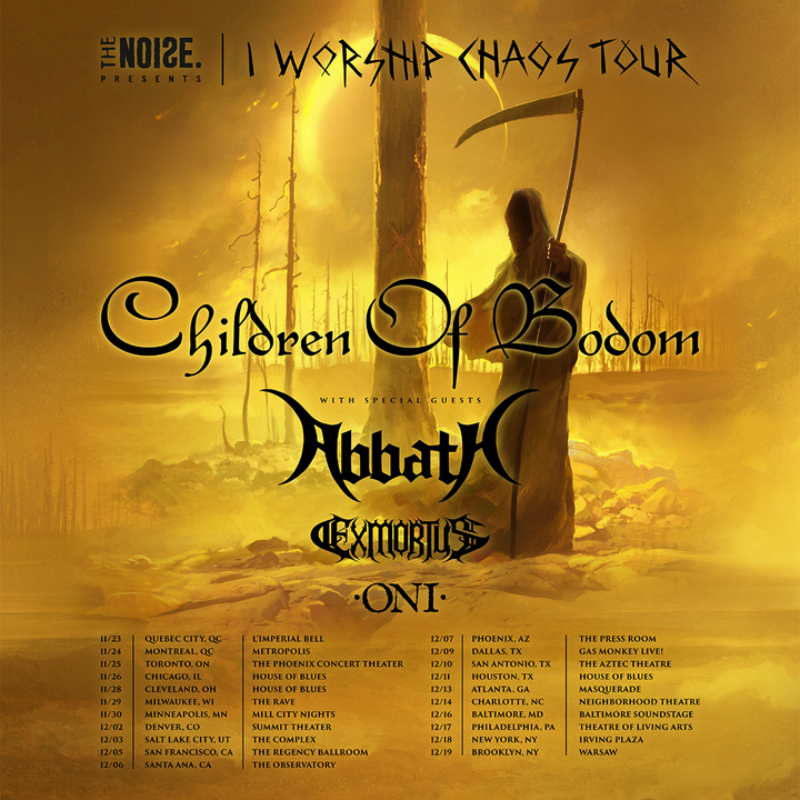 Children of Bodom @ Neighborhood Theatre - Charlotte, NC
