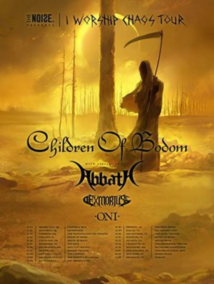 Exmortus @ Neighborhood Theatre w/ Children of Bodom, Abbath, Oni - Charlotte, NC