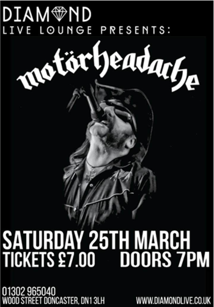 Motorheadache UK @ Diamond Live Lounge - Mexborough, United Kingdom