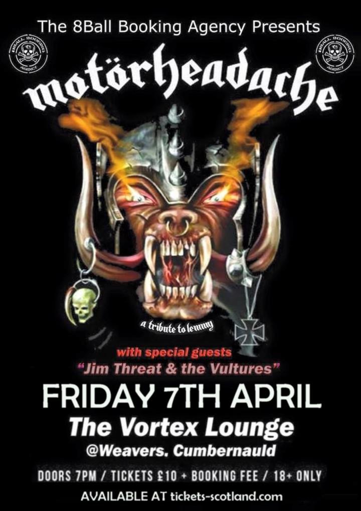 Motorheadache UK @ Vortex Lounge @ Weavers  - Cumbernauld, United Kingdom