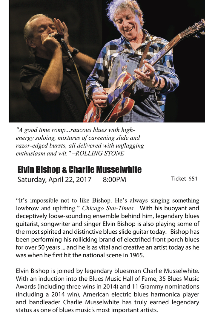 Elvin Bishop @ Vacaville Center for the Arts - Vacaville, CA