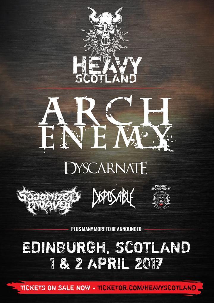 Arch Enemy @ Heavy Scotland - Edinburgh, United Kingdom