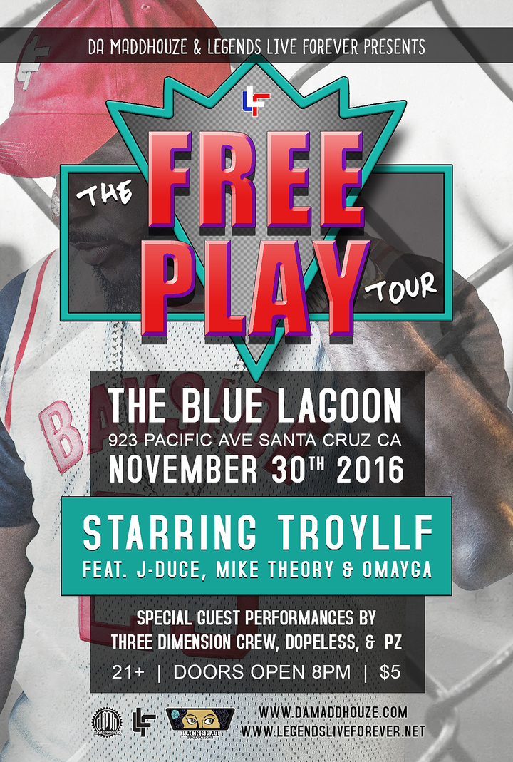 Troy of Legends Live Forever @ Blue Lagoon - Santa Cruz, CA