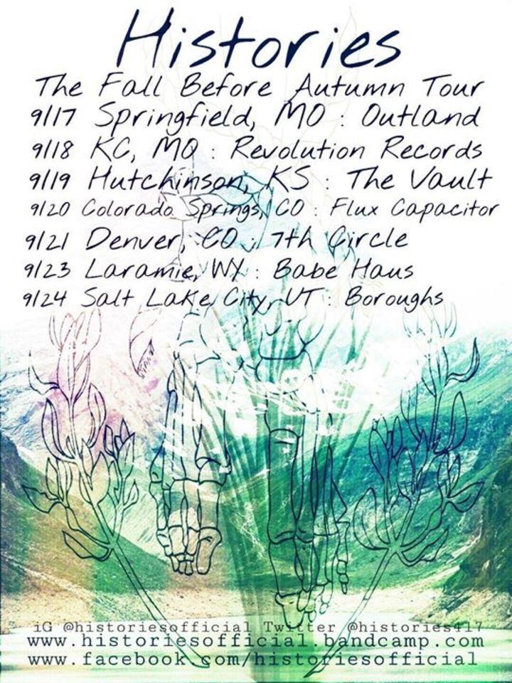 Histories (band) Tour Dates