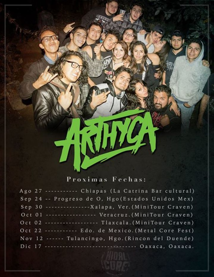 Arthyca Tour Dates