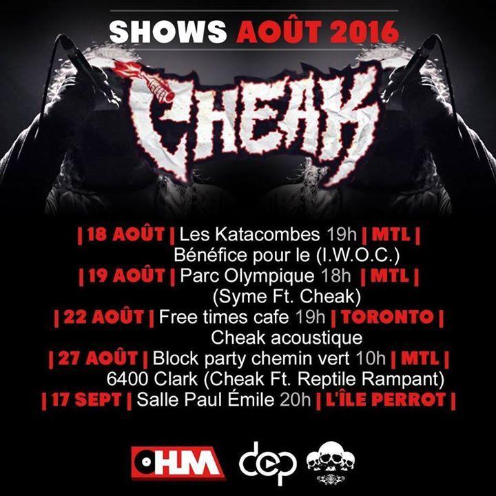 Cheak Tour Dates