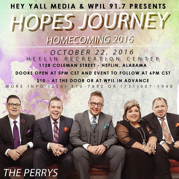 Hope's Journey Tour Dates