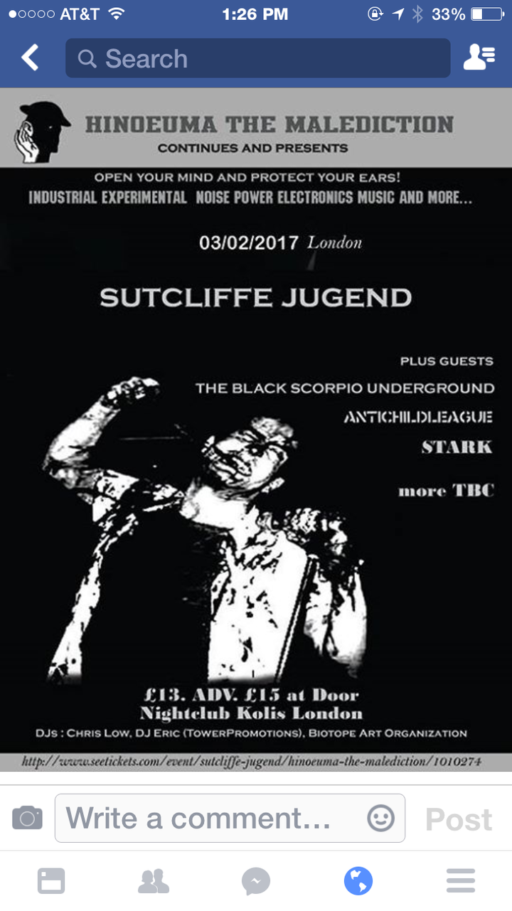 The Black Scorpio Underground @ The Archway Tavern - London, United Kingdom