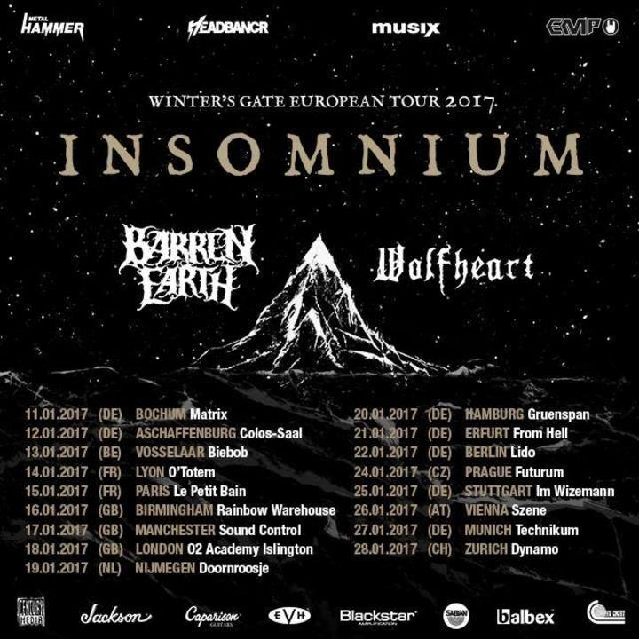 Barren Earth Tour Dates