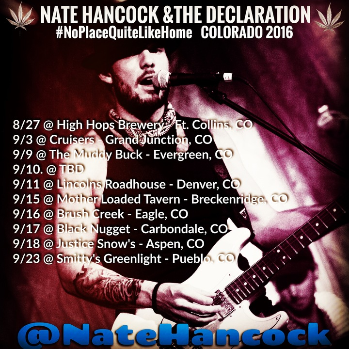 Nate Hancock and The Declaration Tour Dates