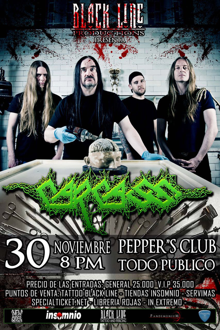 Carcass @ Pepper's Club - San Jose, Costa Rica
