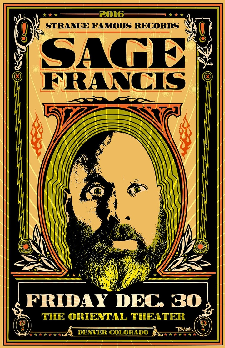 Sage Francis @ The Oriental Theater - Denver, CO