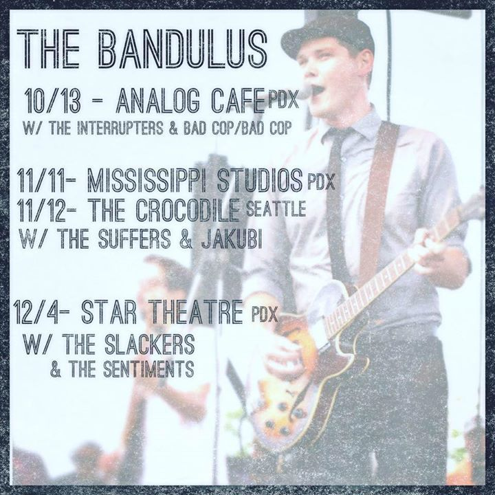 The Bandulus Tour Dates