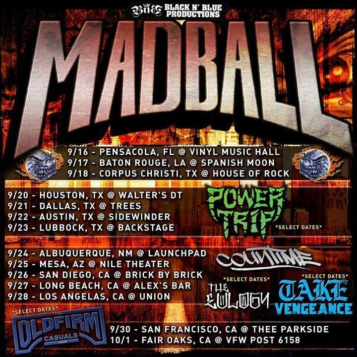Madball Tour Dates
