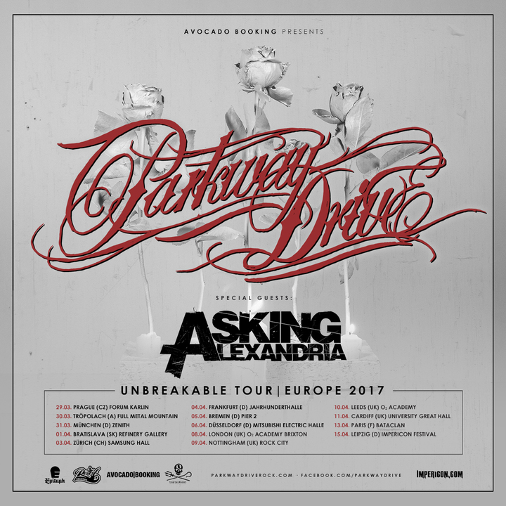 Parkway Drive @ Forum Karlin  - Prague, Czech Republic