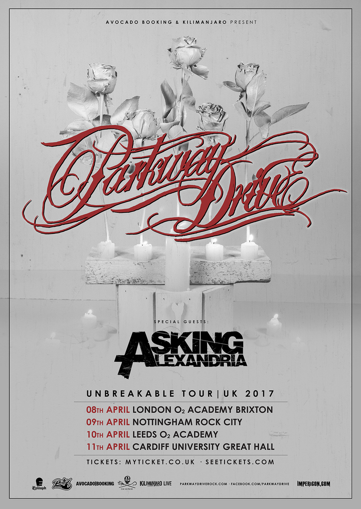 Parkway Drive @ Unviersity Great Hall - Cardiff, United Kingdom