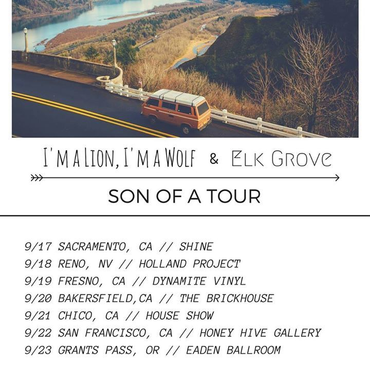I'm a Lion, I'm a Wolf Tour Dates
