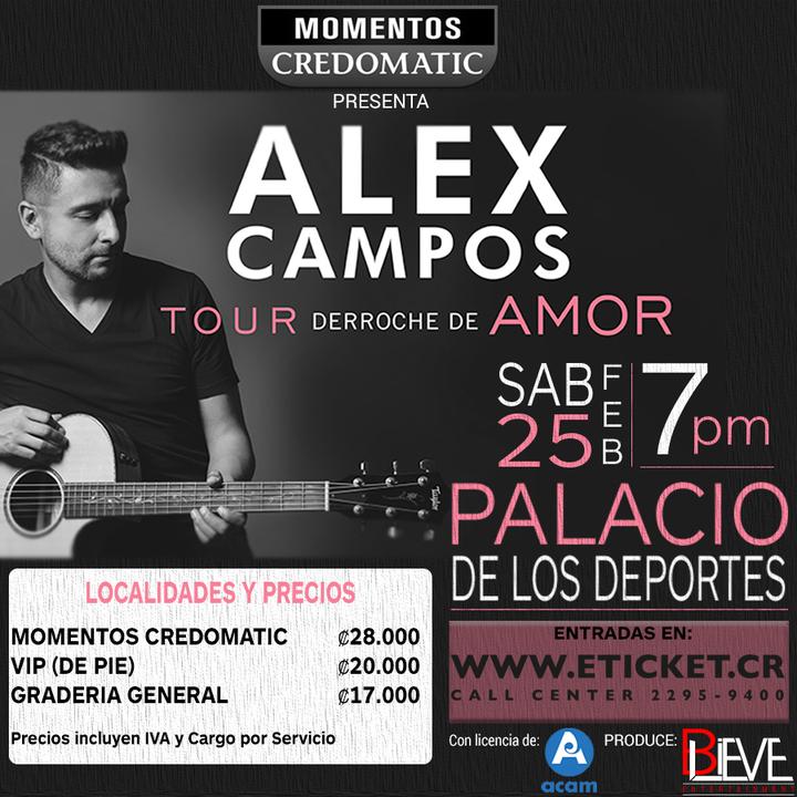 Alex Campos @ Palacio de los Deportes - San Jose, Costa Rica