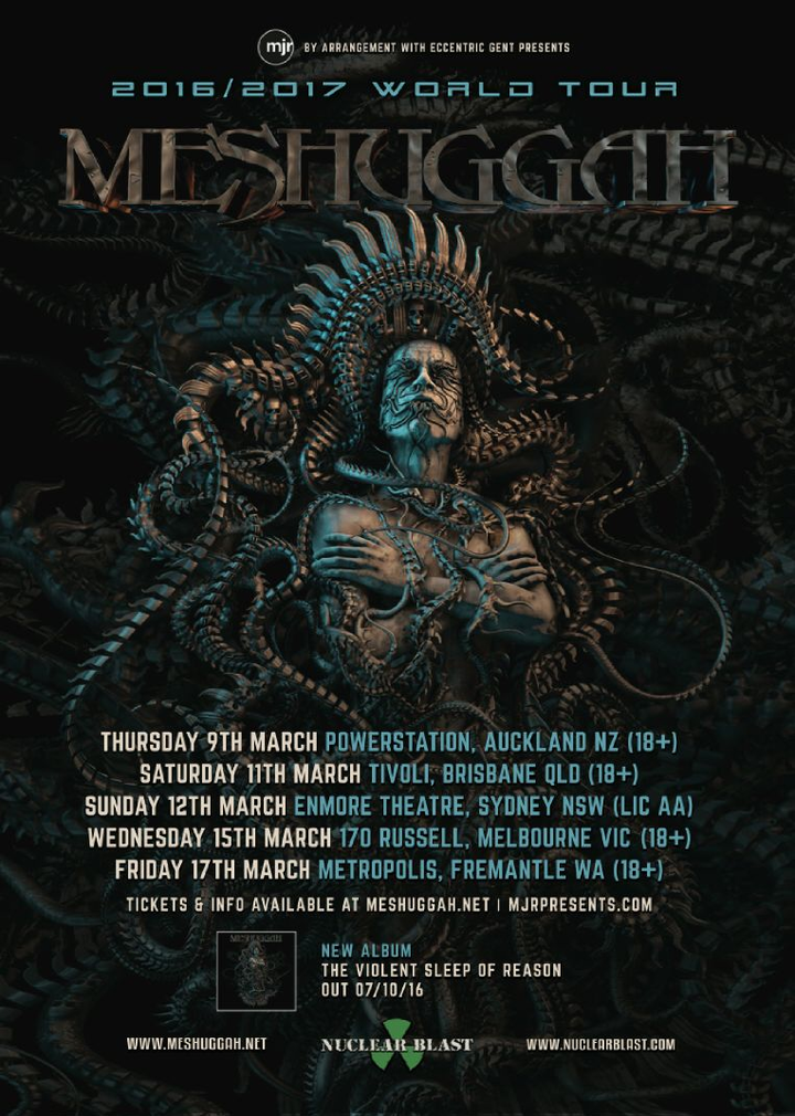 Meshuggah @ Powerstation - Auckland, New Zealand