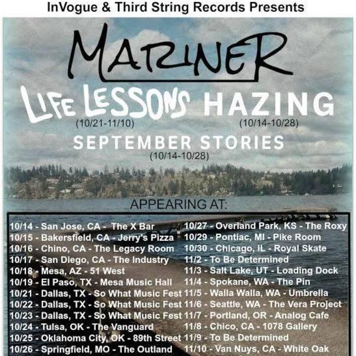 Life Lessons Tour Dates