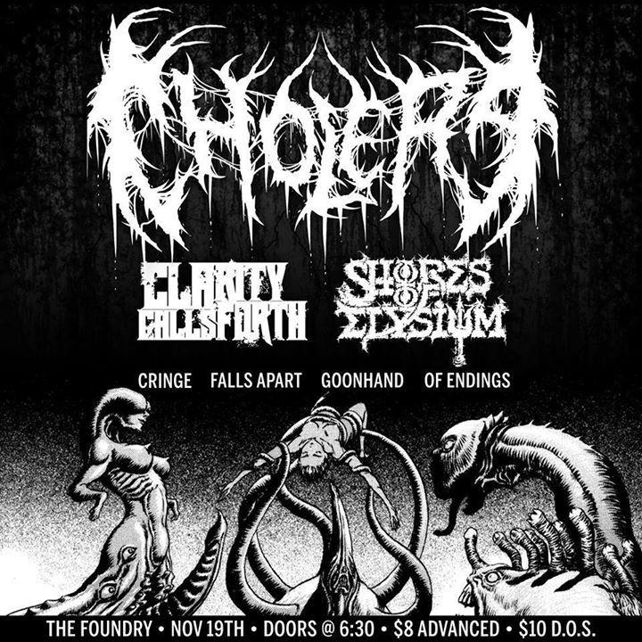 Cholera Tour Dates