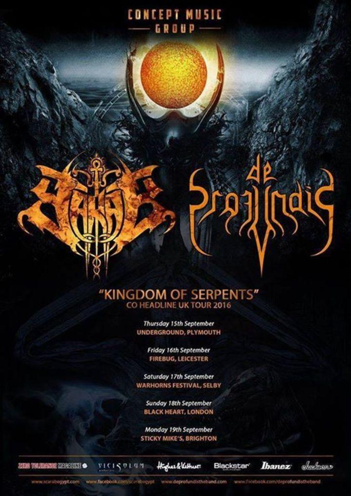 De Profundis Tour Dates